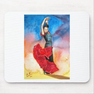 FLAMENCO DANCER watercolour Mousepads