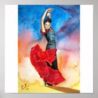 flamenco dancer watercolour posters