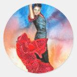 FLAMENCO DANCER watercolour Stickers