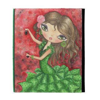 """""""Flamenco Dancer with Castanets"""" iPad Folio Cover"""