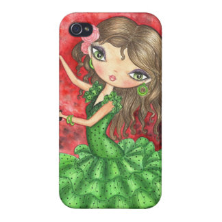 """Flamenco Dancer with Castanets"" iPhone 4/4S Case"