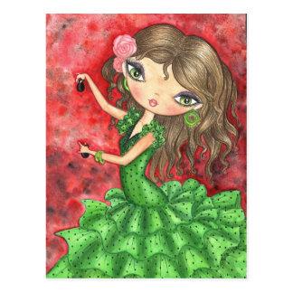 """""""Flamenco Dancer with Castanets"""" Postcard"""