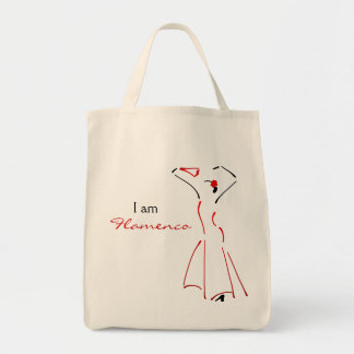 Flamenco Dancer with Customizable Slogan Tote Bag