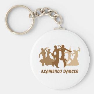 Flamenco Dancers Illustration Key Chain