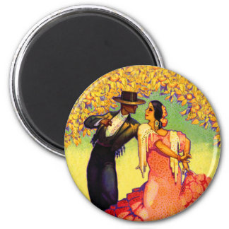 Flamenco Dancers under the Orange Trees Refrigerator Magnets