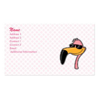Flamenco de la defensa tarjetas de visita