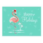 Flamenco del navidad buenas fiestas horizontal postal