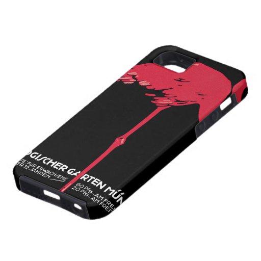 Flamenco del rosa del pájaro del vintage en el iPhone 5 Case-Mate carcasa