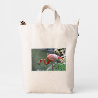 Flamenco delicado bolsa de lona duck