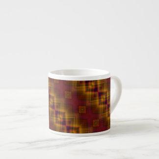 Flamenco Diamond Patterned Espresso Mug 6 Oz Ceramic Espresso Cup