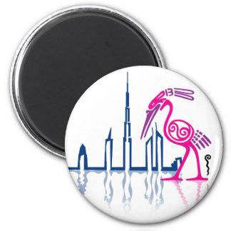 Flamenco en Dubai Imán Redondo 5 Cm