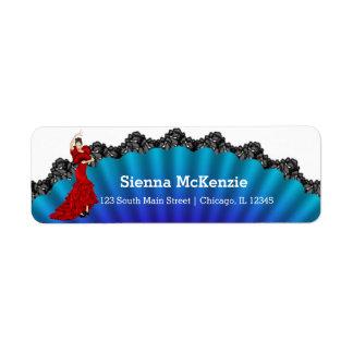 Flamenco Etiquetas De Remite