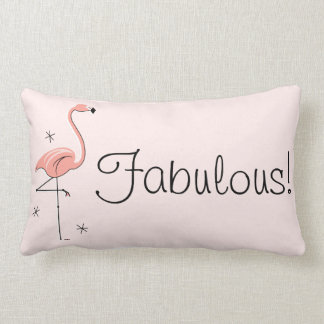 "Flamenco ""fabuloso!"" lumbar trasero del rosa almohadas"