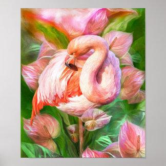 Flamenco-Floración en poster/la impresión del arte Póster
