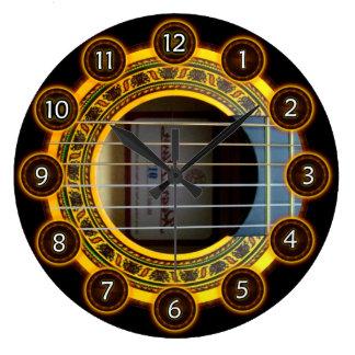 Flamenco guitar by rafi talby large clock