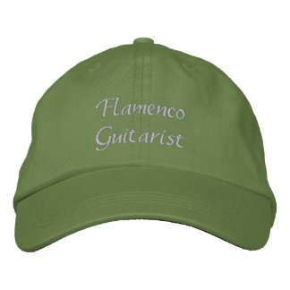 Flamenco Guitarist Custom Embroidered Hat
