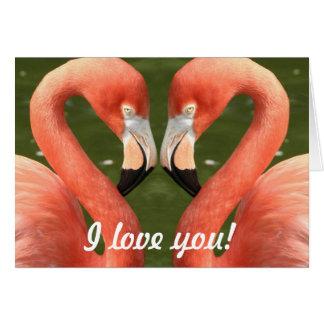Flamenco - i love you! tarjeta