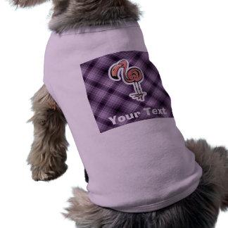 Flamenco lindo; Púrpura Playera Sin Mangas Para Perro