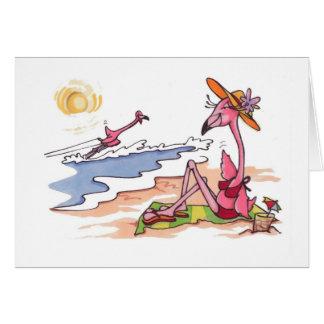 Flamenco Notecard del esquí