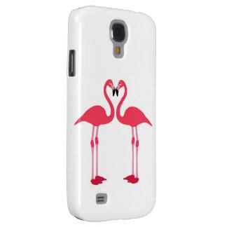 Flamenco-pájaro-amor-corazón rosado
