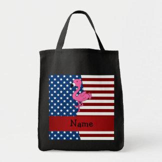 Flamenco patriótico conocido personalizado bolsa tela para la compra