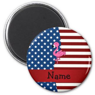 Flamenco patriótico conocido personalizado imán redondo 5 cm