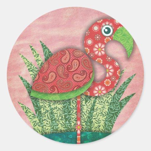 flamenco pegatina redonda