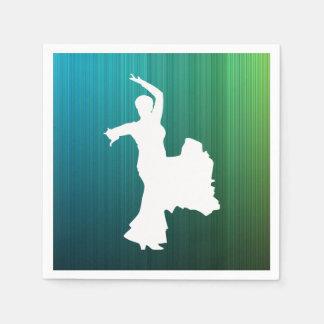 Flamenco Performs Sign Standard Cocktail Napkin
