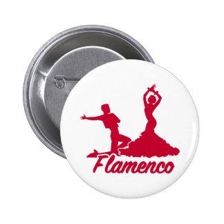 Flamenco Pin Redondo De 2 Pulgadas