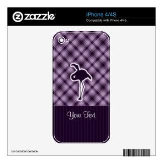 Flamenco púrpura calcomanía para iPhone 4S
