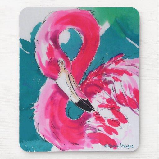 Flamenco que flamea el arte de Mousepad