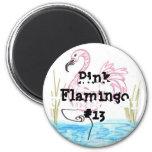 Flamenco rosado #13 imán de frigorifico