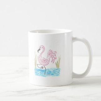 Flamenco rosado 13 taza de café