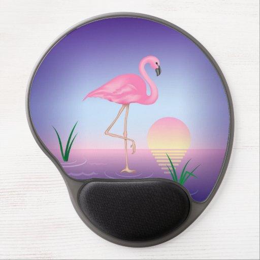 Flamenco rosado alfombrilla de raton con gel