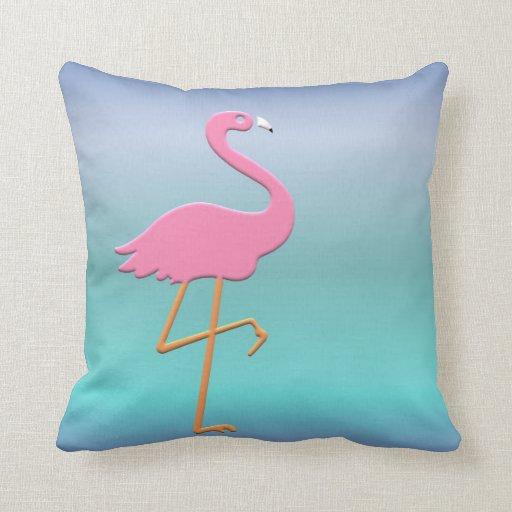 Flamenco rosado almohada