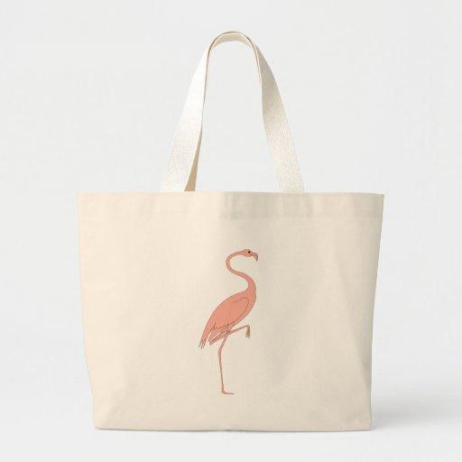 Flamenco rosado bolsas