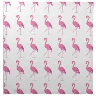 Flamenco rosado bonito servilletas imprimidas