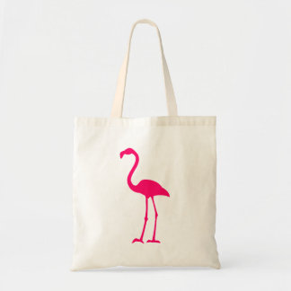 Flamenco rosado brillante bolsas de mano