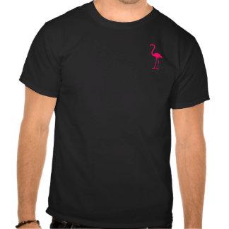 Flamenco rosado brillante camisetas