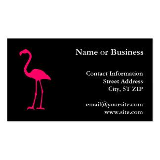 Flamenco rosado brillante tarjetas de visita