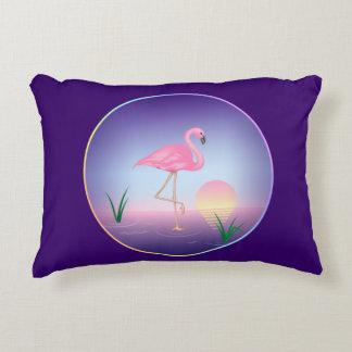 Flamenco rosado cojín decorativo