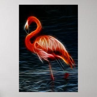 Flamenco rosado de Fractalius Impresiones