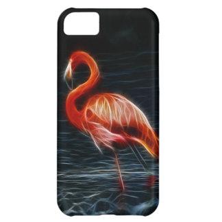 Flamenco rosado de Fraktalius Funda Para iPhone 5C