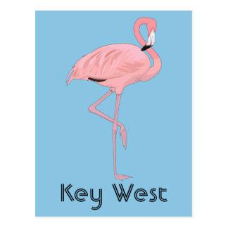 Flamenco rosado de Key West la Florida Postales