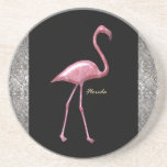Flamenco rosado de la Florida Posavasos Personalizados
