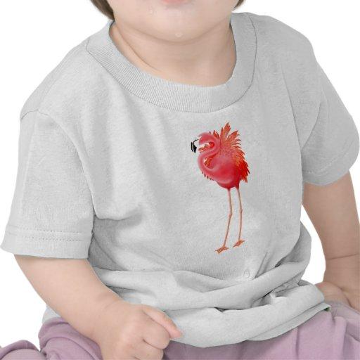 Flamenco rosado del Caribe Camisetas