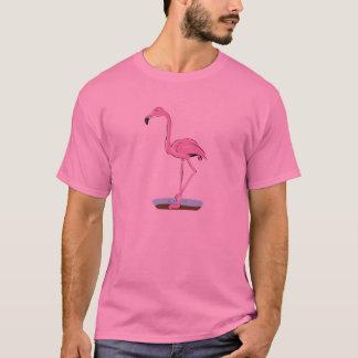 flamenco rosado derecho playera