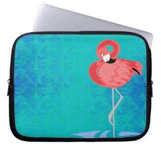 Flamenco rosado fundas portátiles