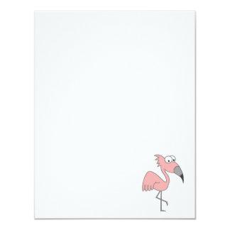 Flamenco rosado invitaciones personales