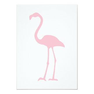 Flamenco rosado invitación 12,7 x 17,8 cm